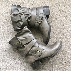 Brown Belted Boots Size 7.5